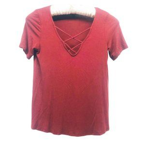 TOPSHOP | Maroon Top T-Shirt 2